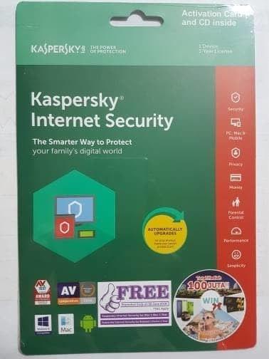 harga Kaspersky internet security 1 user 2018 Tokopedia.com