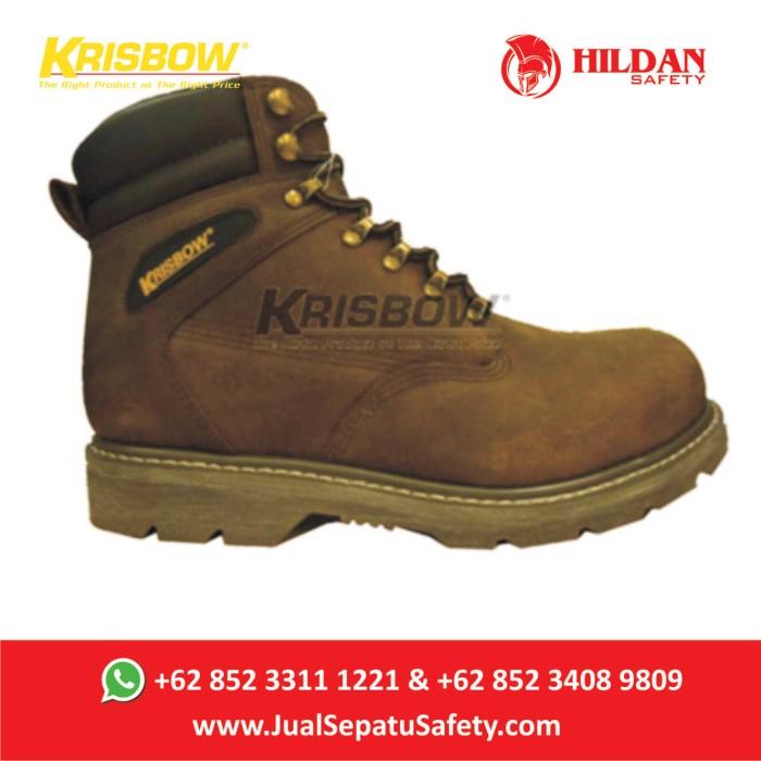 Jual Jual Sepatu Safety Krisbow Vulcan Brown Cokelat 6 Inch