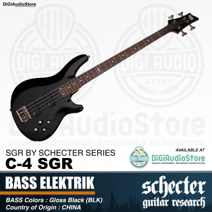 Jual C 4 Bass Sgr By Schecter Gloss Black Blk Gitar Bass Listrik