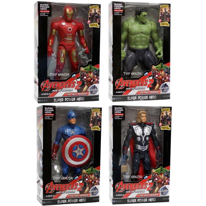 harga Mainan Robot Avenger 2 Thor + IronMan + Hulk + Captain America KECIL Tokopedia.com