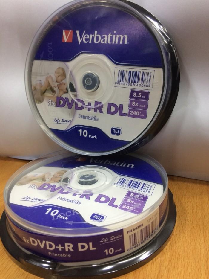 photograph about Verbatim Printable Dvd R known as Jual DVD-R DOUBLE LAYER VERBATIM PRINTABLE 8,5GB isi 10computer systems - DKI Jakarta - amec laptop Tokopedia