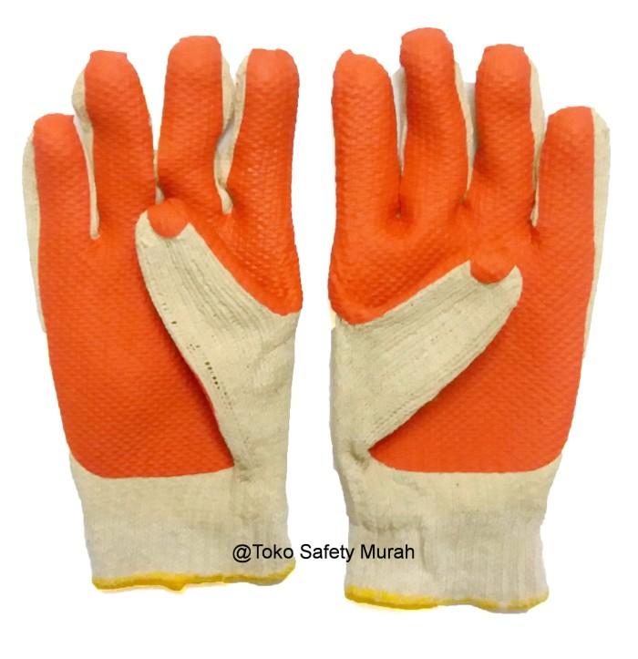 Sarung Tangan Telapak Karet SAS Orange Grosir
