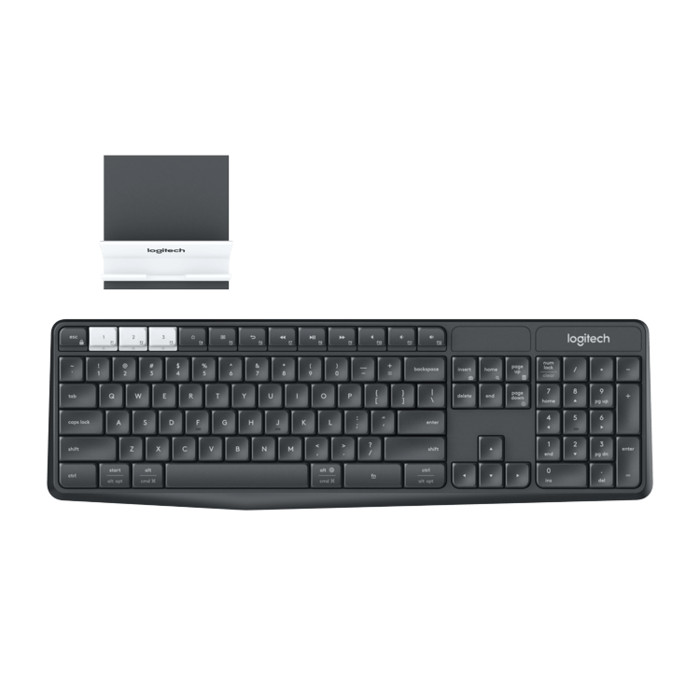 Logitech k375s multi-device blutooth + wireless keyboard with stand