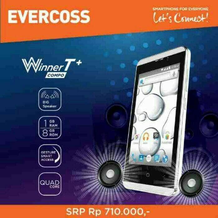 harga Evercoss a74e winner t+ ram1gb/8gb/5.1 lolipop Tokopedia.com