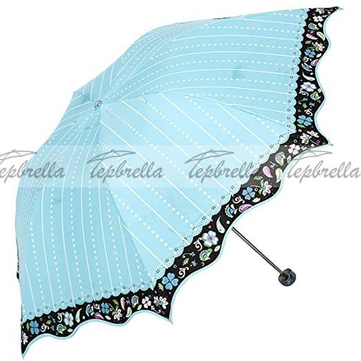 Payung lipat 3 mangkok cutie flower and batik