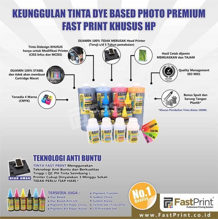 harga Tinta dye based photo premium hp 1 set - 4 warna - 125 ml Tokopedia.com