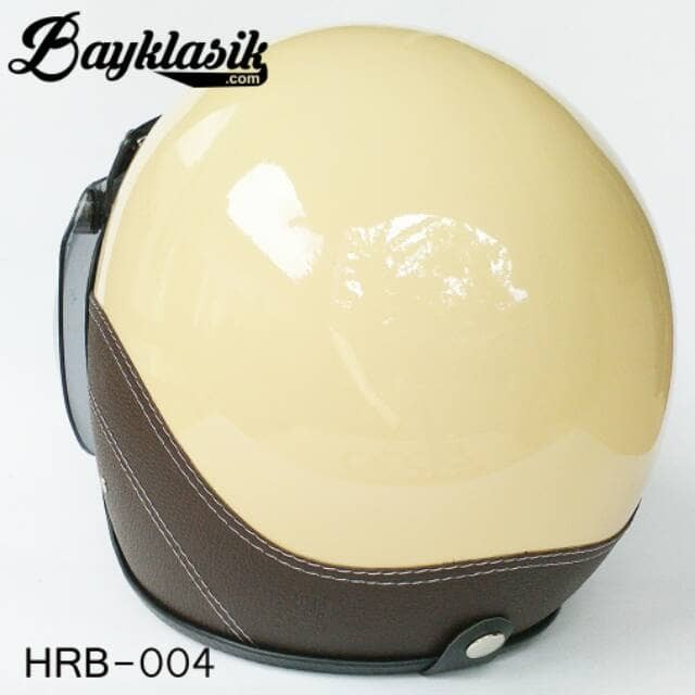 Best Quality Helm Retro Bogo Cream SK Cokelat 1