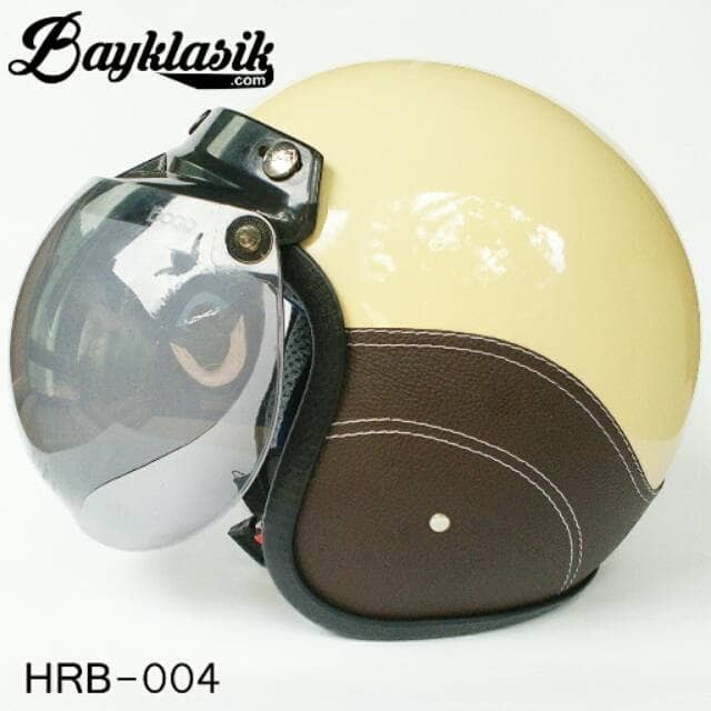 Best Quality Helm Retro Bogo Cream SK Cokelat 2