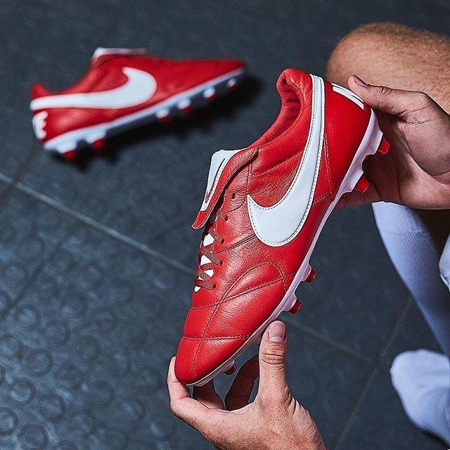 ced603d37 Jual Sepatu Bola Nike Premier II FG University red White - Kab ...