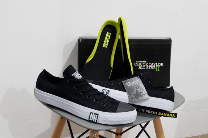 Jual LUNARLON Sepatu Converse Undefeated CT II 2 CTII CT2 Black Low ... 3d2f078c10