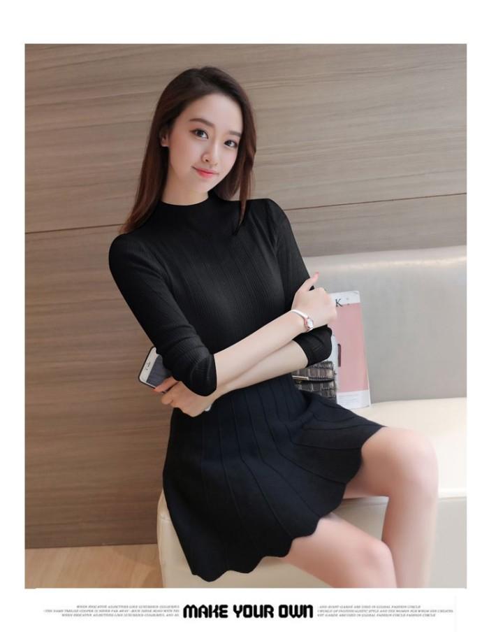 harga Kaos t-shirt wanita import black short turtle neck (size s) 186347 Tokopedia.com