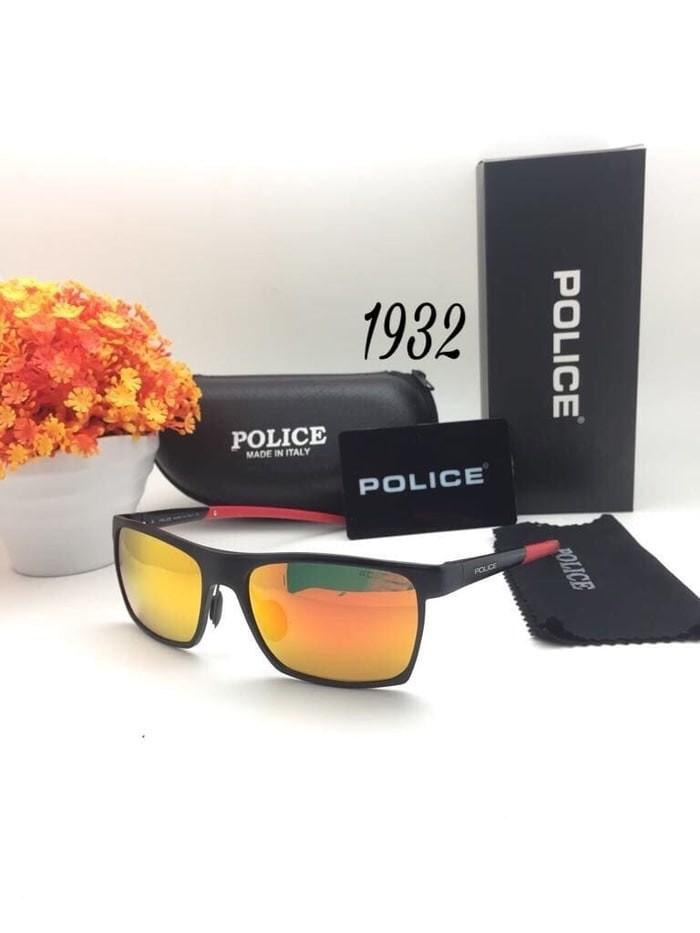 ... harga Kacamata hitam police 1932 frame hitam kotak sunglasses pria  Tokopedia.com ace03bd556