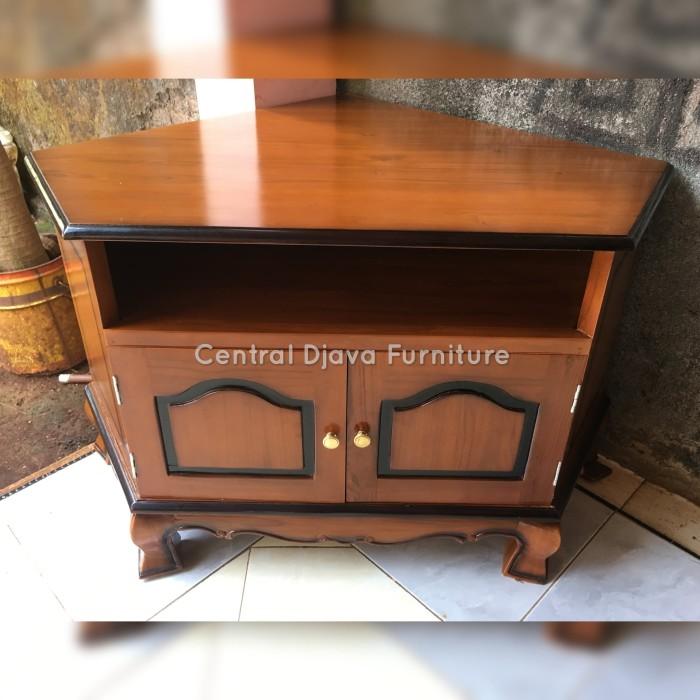 Jual Bufet Sudut Pojok Meja Tv Kayu Jati Buffet Nakas Furniture Jepara Kab Jepara Central Djava Furniture Tokopedia