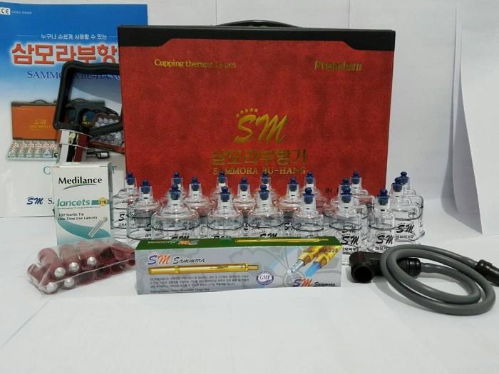 Foto Produk Paket Hemat.. Kop Bekam Sammora Premium isi 19+ Lancing Gold SM +Jarum dari Vintaco