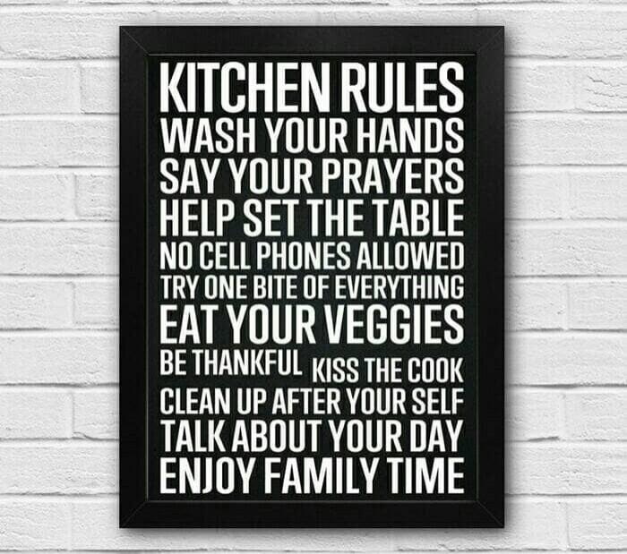 harga Poster premium hiasan dinding dapur resto kafe   kitchen rules Tokopedia.com