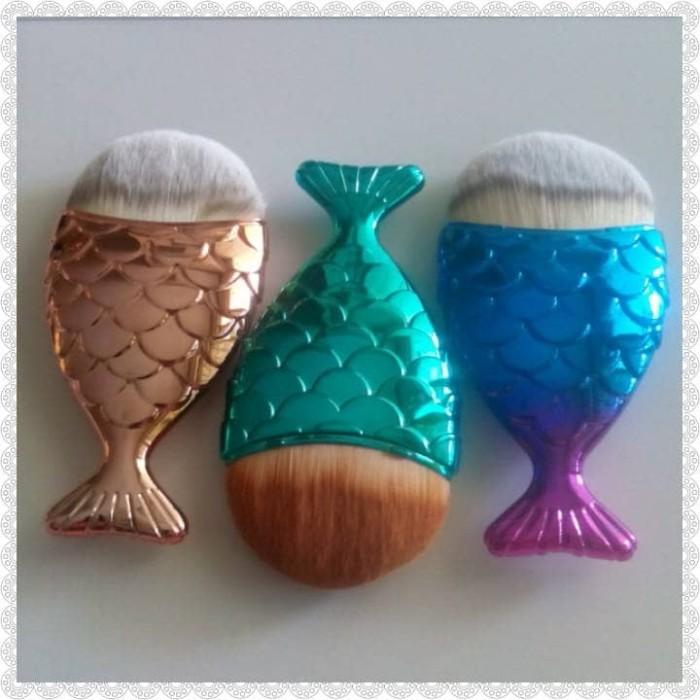harga Make up brush mermaid kuas foundation Tokopedia.com