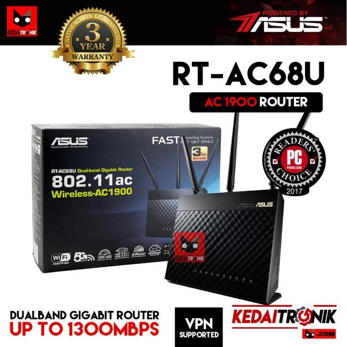 harga Asus rt-ac68u dual band gigabit router ac1900 4g usb vpn manage ap ac Tokopedia.com