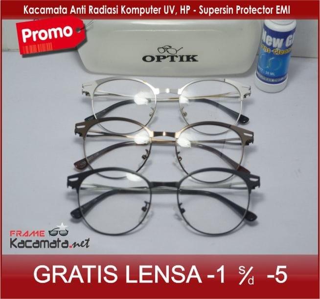 Frame Kacamata - Lensa Minus Baca Anti Radiasi pria wanita Korea Kot b8f90db257