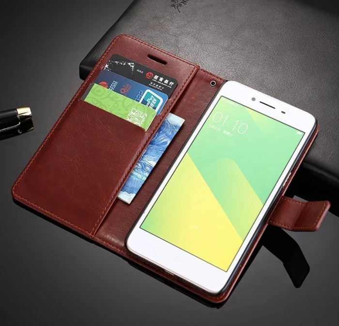 ... Casing Oppo F1 A35 A37 NEO 9 Leather Kulit FLIP COVER WALLET