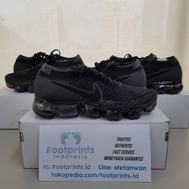 244d581632752 Jual Nike Air Vapormax Triple Black 2.0 Women Ladies 100% Original ...