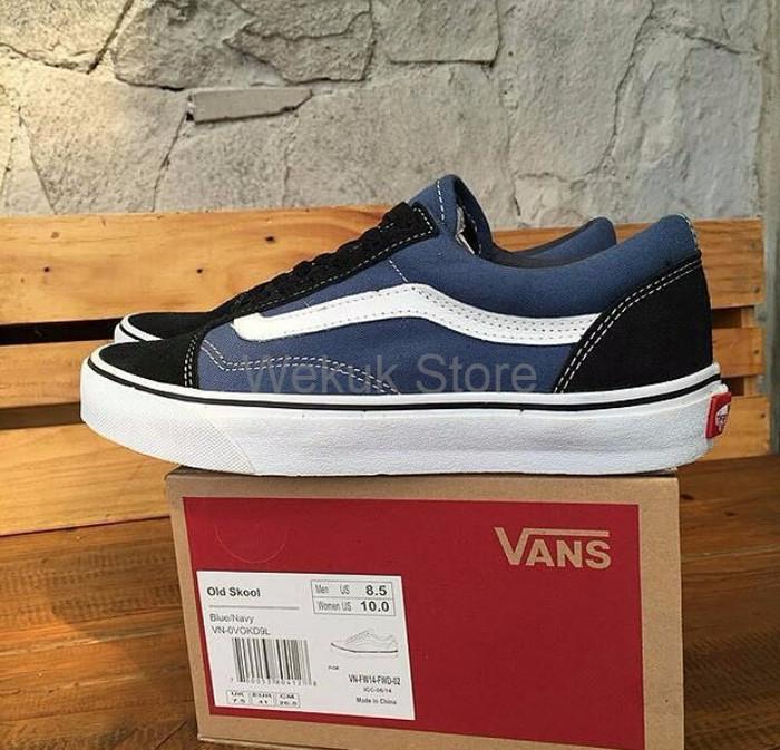 Jual HOT PROMO Sepatu Sneakers Kets sekolah Vans Oldskool Navy ... 3c2d4542e3
