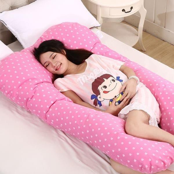 Jual Bantal Hamil / Menyusui / Maternity Pillow / Bahan Silicon Super
