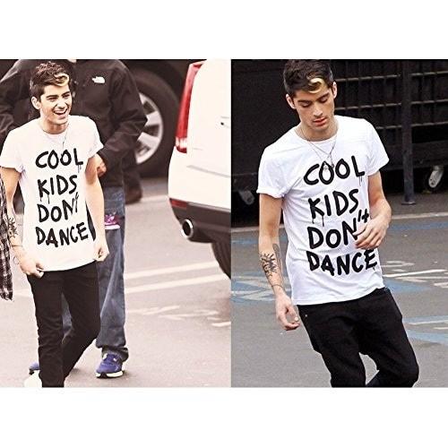 Kaos tshirt Distro Zain malik cool kids dont dance white