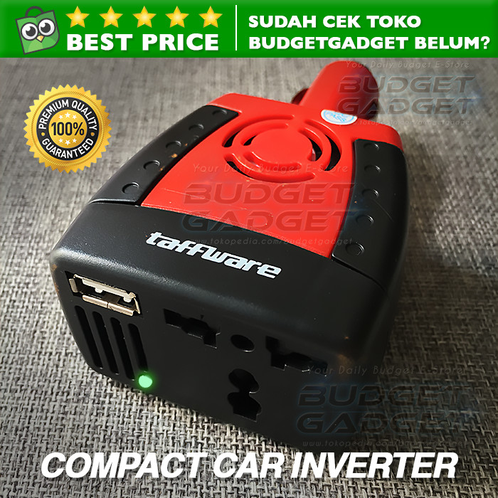 harga Compact power car inverter 150w 220v ac eu plug and 5v usb charger Tokopedia.com