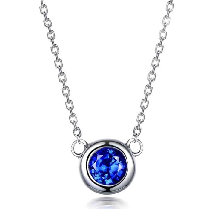 Jual Tiaria 18k Fiery Blue Sapphire On Heart Kalung Emas Wanita Harga Promo Terbaru
