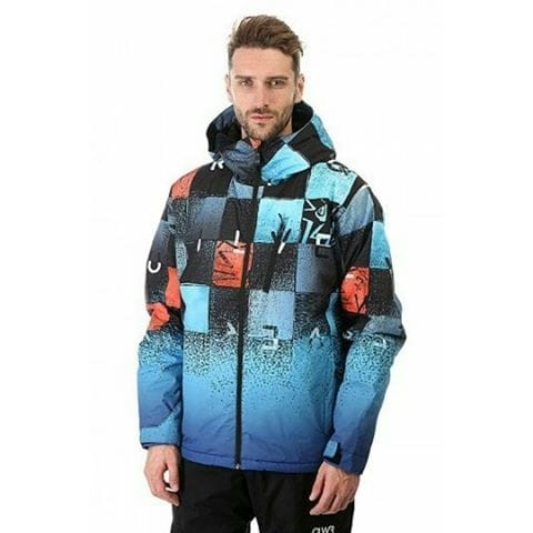 jaket gunung pria quiksilver windproof waterproof outdoor original .