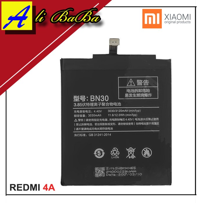 harga Baterai handphone xiaomi redmi 4a bn30 batre hp battery xiaomi Tokopedia.com