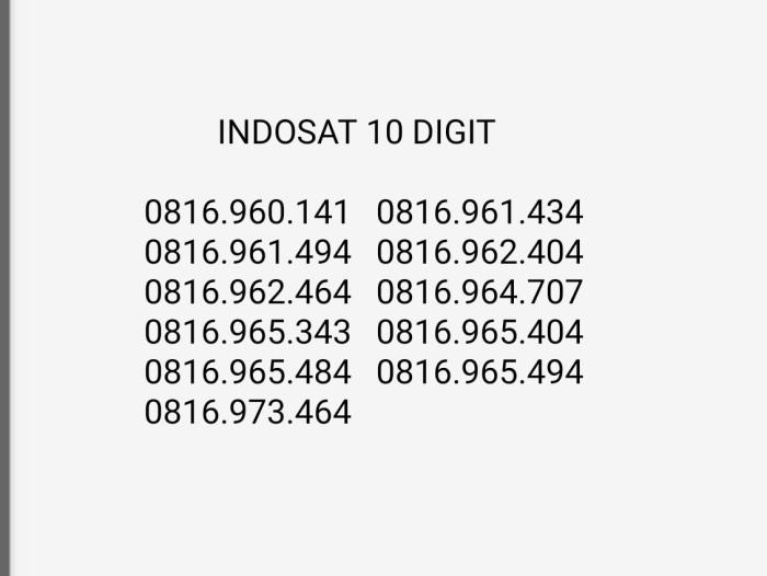 harga Indosat Im3 Mentari 10 Digit Segel Tokopedia.com