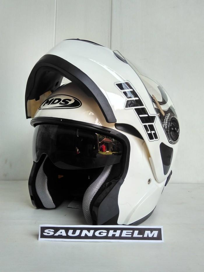 harga Helm mds pro rider flip up solid white Tokopedia.com