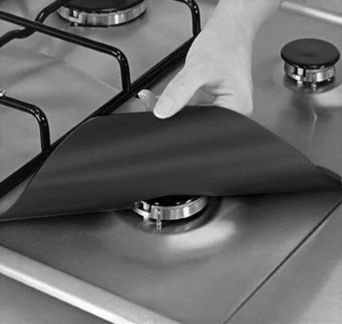 harga Panache easy clean ptfe nonstick gas burner hob protector 1 set 4 pcs Tokopedia.com
