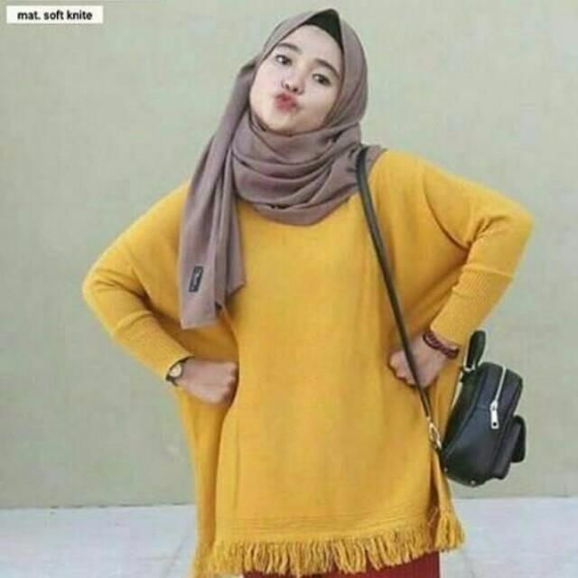 Jual Sweater Rumbai Bawah   Pakaian Atasan Wanita   Baju Outer ... 83de68656b