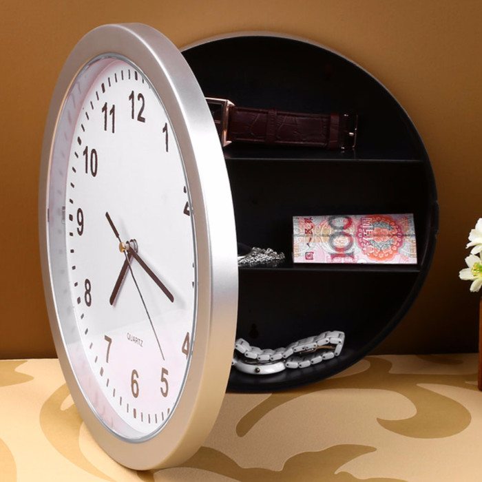 Brankas Bentuk Jam Dinding   Wall Clock Safe Hidden Money Safety Box 470fff61ba