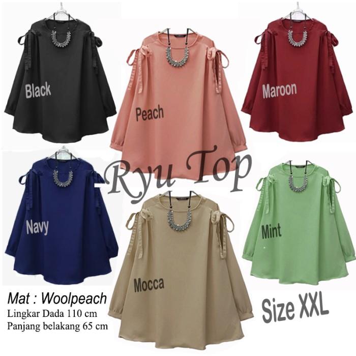 Baju Atasan Ryu Top Blouse Tunik Baju Muslim Blus Muslim