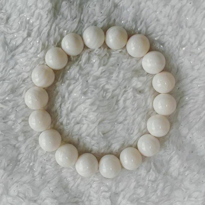 harga A-kha gelang mustika giok putih 10mm 100% batu alam pabrik langsung Tokopedia.com