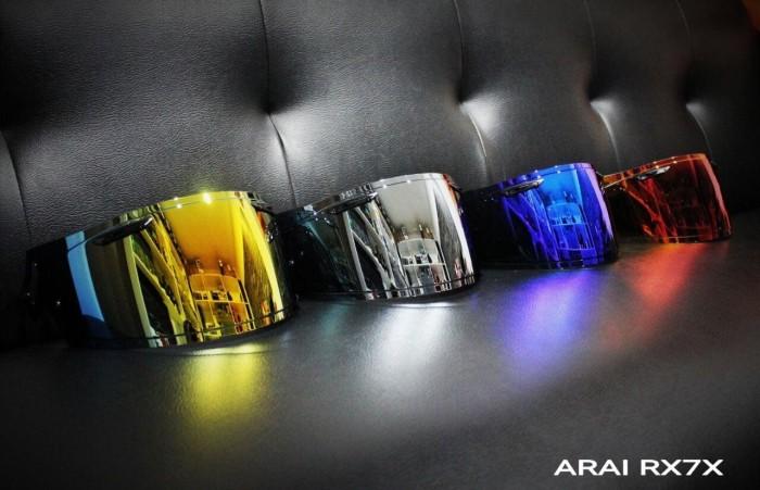 Foto Produk Visor Iridium Japan Mirror ARai or Kaca Helm Arai Mirror RX7X ORIGINAL dari Xtreme Motor Sport