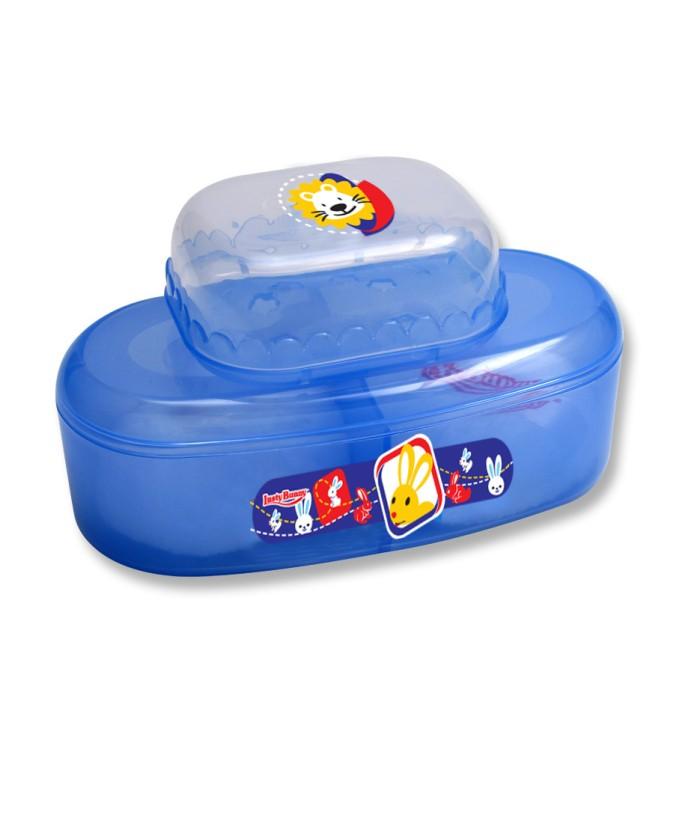 Lusty Bunny Tempat bedak Bayi Powder Case plus soap case - Biru Muda