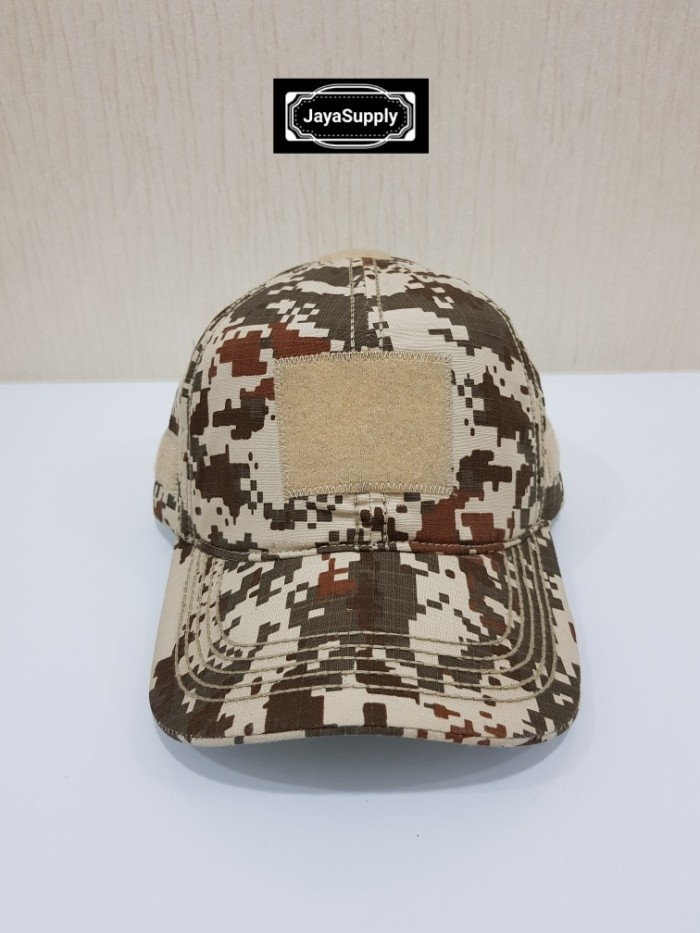 Topi Velcro DESSERT Tactical Combat Hat Army Militer Outdoor Rimba PDL 7ae2aecf30