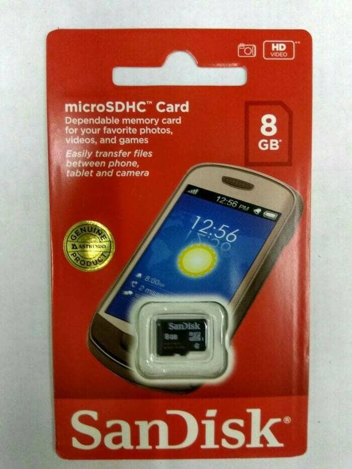 Micro sd sandisk 8gb - garansi resmi original