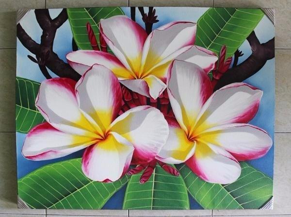 Jual Special Lukisan Hiasan Dinding Bunga Kamboja Kota Denpasar Andinamadeshops Tokopedia