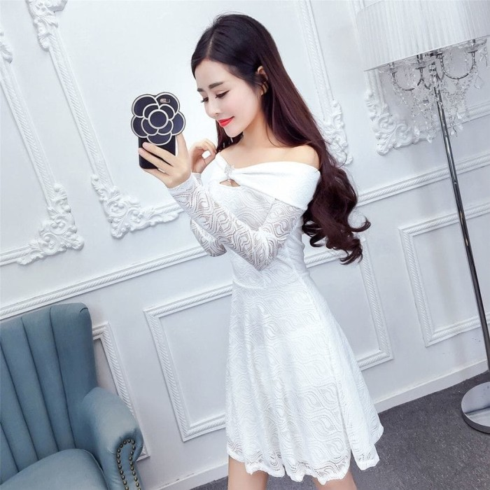 Jual Dress Pesta Putih Brokat Cantik Import Kota Depok Kay Kay