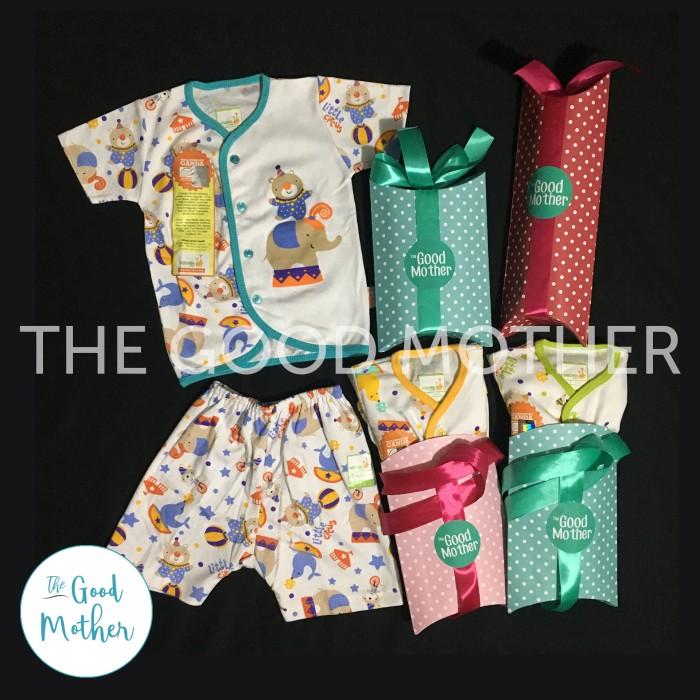 Baju Tidur/Piyama Bayi NB 0-3m Setelan Pendek Velvet Junior Playful - 0-3 Bulan, Turquoise
