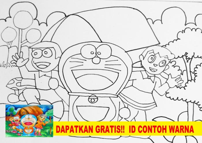 Gambar Doraemon Tanpa Warna Wwwimagenesmicom