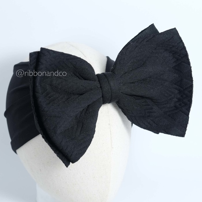 harga Ashley bow big black / pita anak/ pita bayi / ribbonandco /ribbon Tokopedia.com