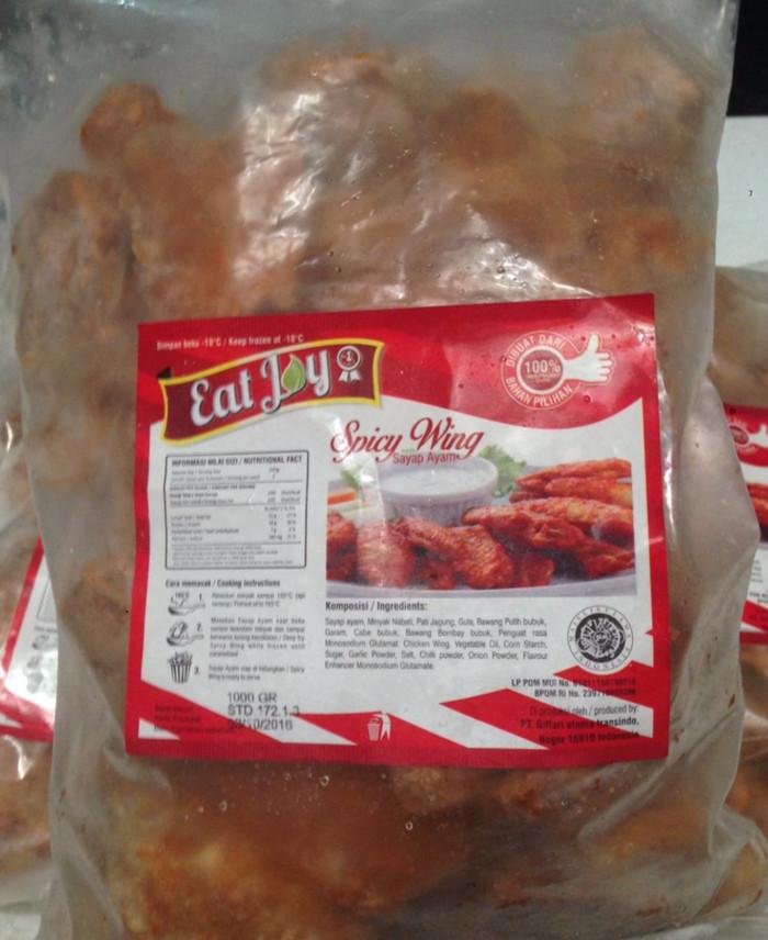 Jual Eat Joy Spicy Chicken Wing 1 Kg Daging Sayap Ayam Olahan Kiloan 1000gr  - Kota Tangerang - PusatJajanJakarta   Tokopedia