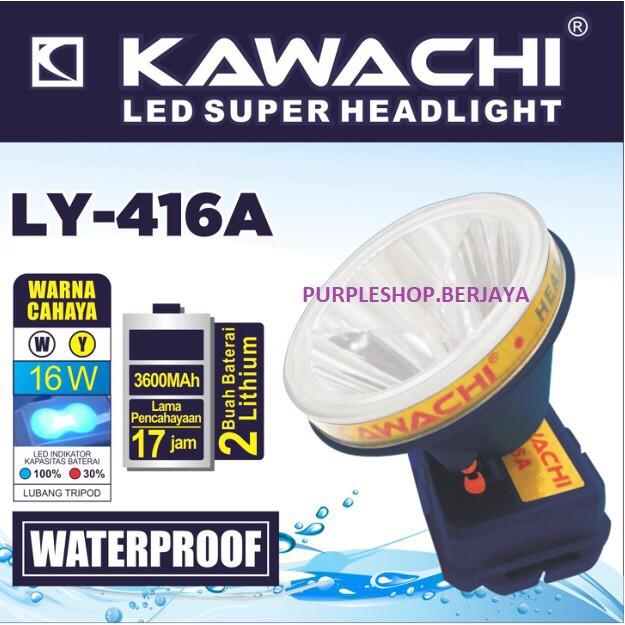harga Senter kepala 16watt ly 416a kawachi (waterproof) tahan percikan air Tokopedia.com