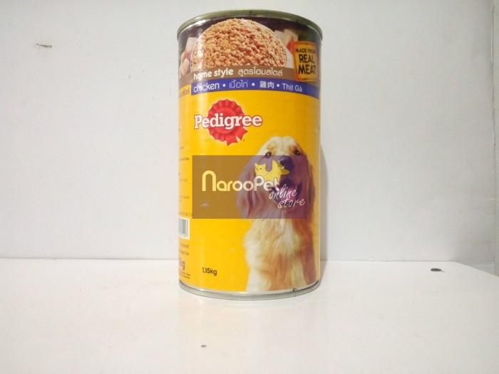 harga Makanan anjing pedigree home style real meat dewasa chicken can 115kg Tokopedia.com